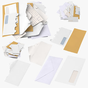 3D mail envelopes
