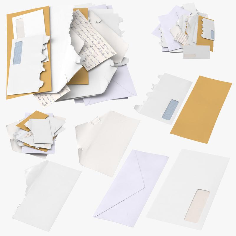 3D mail envelopes