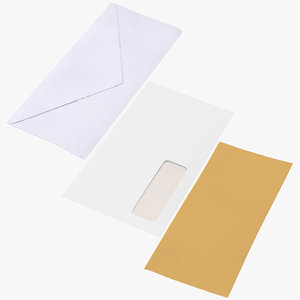 3D closed mail envelopes
