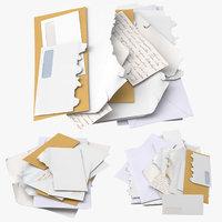 3D mail piles model