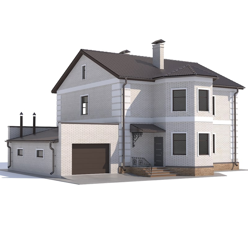 3D model house garage