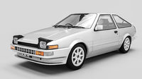 toyota sprinter trueno 3D model