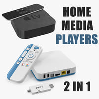 Home Media Players 3D Models Collection
