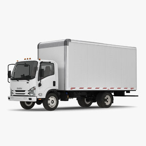 box truck isuzu npr 3D model