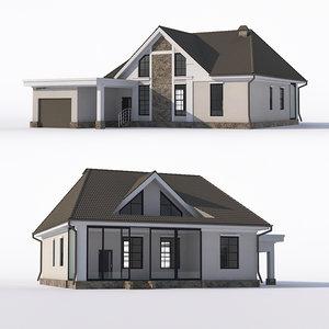 3D house attic