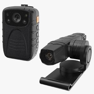 lapel body cams 3D model