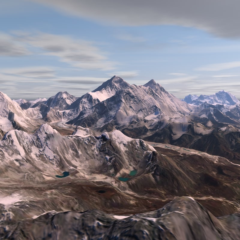 3D model mt everest