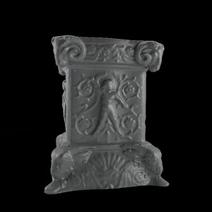 carved column 3D model
