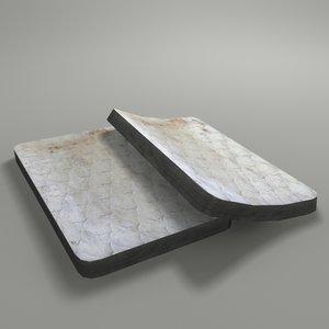 3D model old mattress