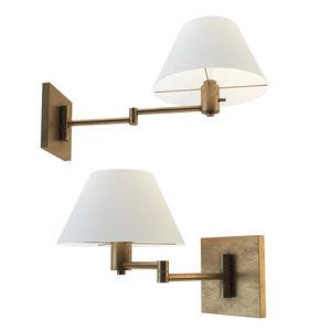 3D classic swing arm wall lamp