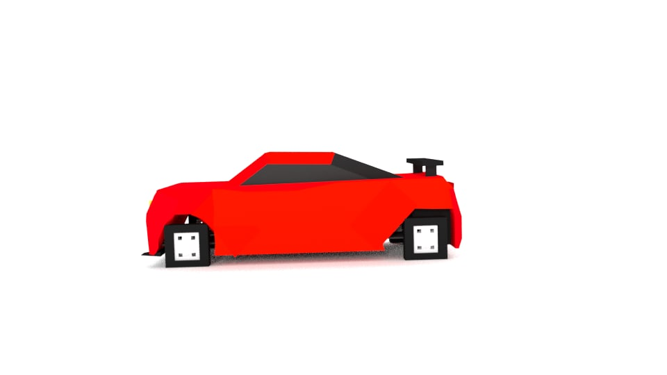 camaro ss 2016 minecraft 3D model