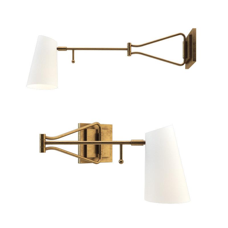 3D keil swing arm wall light