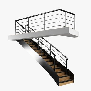 3D stairs interior boat