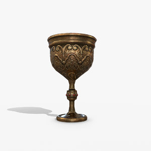 3D medieval cup model