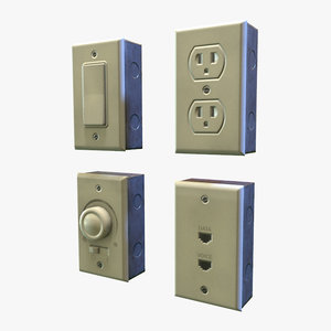 electrical outlets - ready 3D model