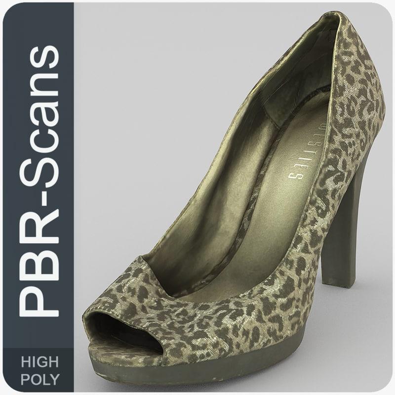 scans shoe 3D