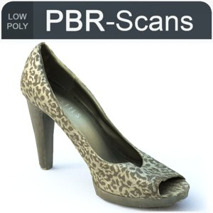 scans shoe 3D model