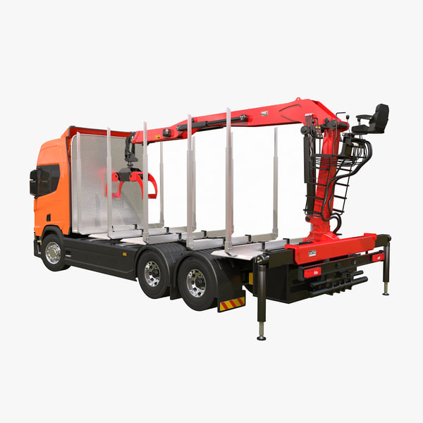3D scania logging truck model