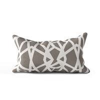 3D geometric decor pillow