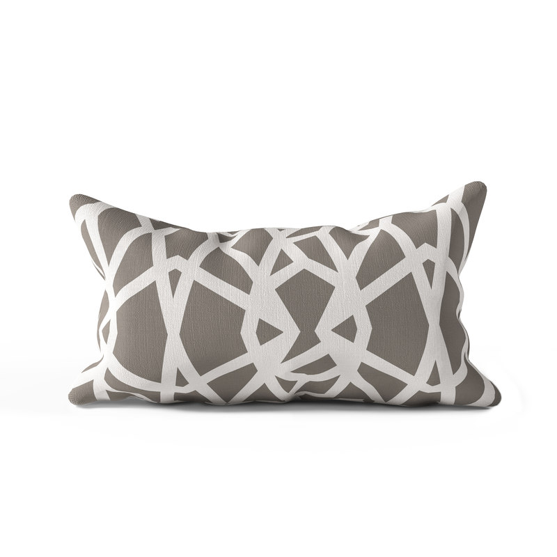 3D geometric decor pillow