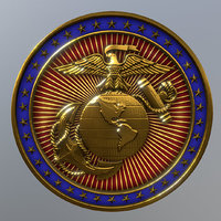 3D model marine challenge coin