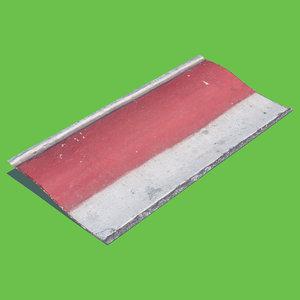 red curb 3D model