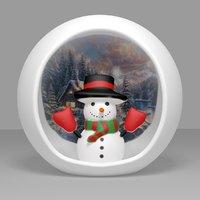 snowman decor 3D