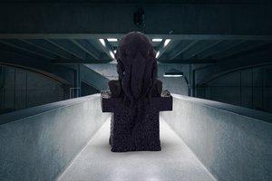 3D cthulhu statue model