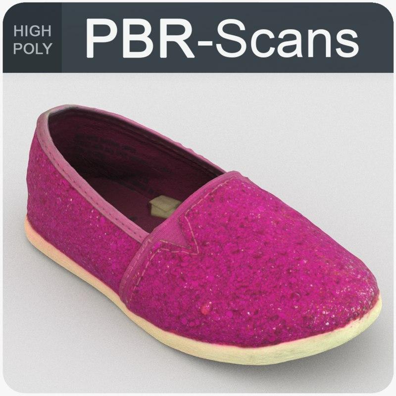 scans baby shoe 3D model