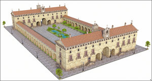 monastery historic model