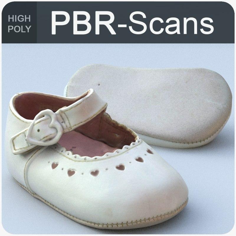 scans baby shoe 3D