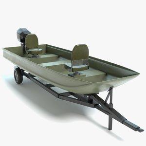 3D jon boat model