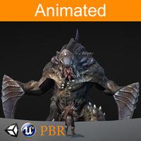 character parazite alfa 3D model