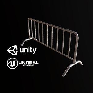 3D pbr ready barricade