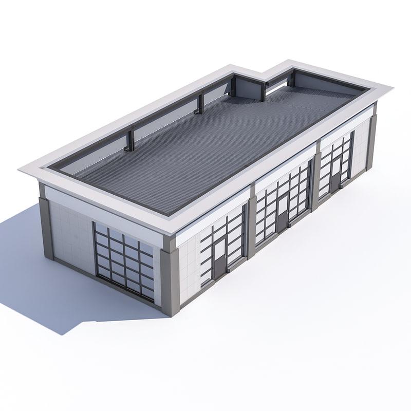 3D stop stall model