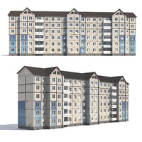 3D prefabricated apartment building