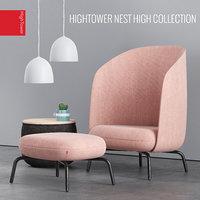 hightower easy nest chair 3D model