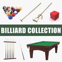 billiard set snooker 3D