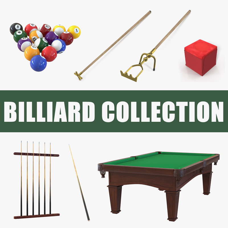 billiard set snooker 3D