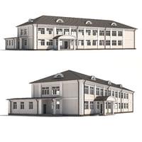 3D classical public building