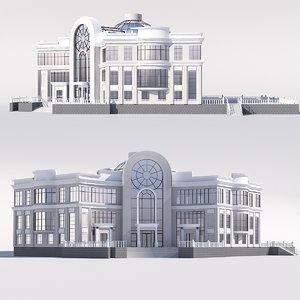 classical public building 3D model