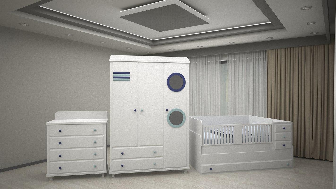 3D baby room model