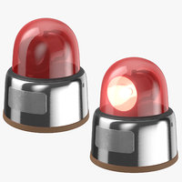 red car lights 3D model