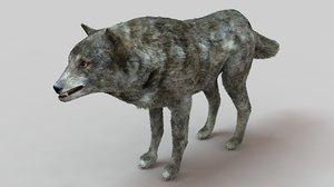 wolf hairs fur 3D model