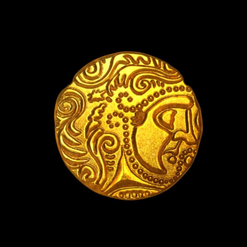 3D coin celtic model