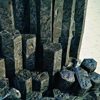 Basalt Columns and Rocks Kit PBR - Obsidian