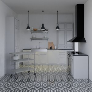 kitchen scene model