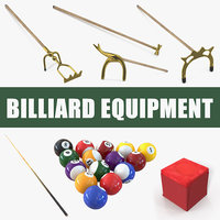 3D billiard equipment model