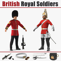 british royal soldiers 3D model