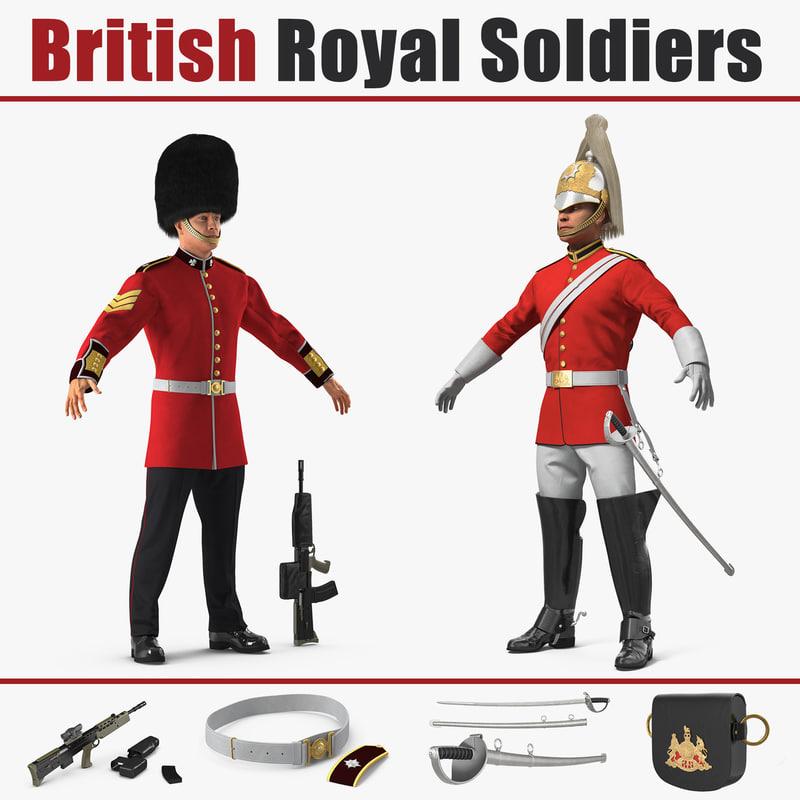 british royal soldiers 3D model
